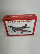 1996 Spec Cast Diecast Lockheed Orion Airplane Bank Farm Safety Just 4 Kids NEW