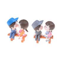3pcs/set Lovers Miniature Landscape Ornaments Garden Bonsai Dollhouse Decor