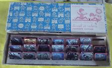 Ancienne Boîte 20 Tampons Timbre Scrapbooking Daniel et Valérie Fernand Nathan