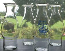 Set of 4 Maison Bourbon + Plain Hurricane Lamp Bar/Drink Glass New Orleans Jazz