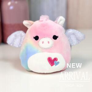 "KellyToy Squishmallow 4.5"" Paisley the Pink Tie Dye Pegasus NEW LT ED HTF Plush"