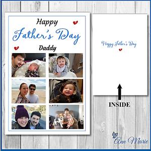 PHOTOS PERSONALISED FATHERS DAY CARD DADDY DAD FATHER GRANDAD POP STEPDAD