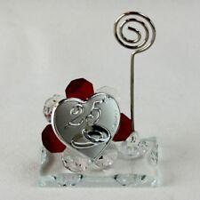 DLM26055-rosso Portafoto Memo Clip in cristallo 25 Anniversario di Matrimonio_Ro