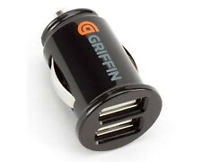 Griffin Compact Dual Twin USB Car Charger for Mobile MP3 2 x 1 Amp 12V GC23089