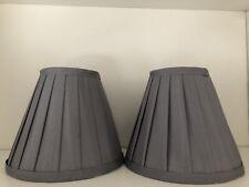 Pair Lamp Shade Grey