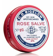 C.O. Bigelow All Purpose Classic Rose Lip Balm Salve 0.8 Oz 22g Tin - New
