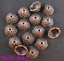 100 Pcs Antiqued copper plt swirl bead caps A535