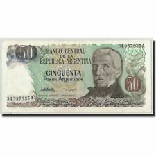 [#315553] Banconote, Argentina, 50 Pesos Argentinos, Undated (1983-85), KM:314a
