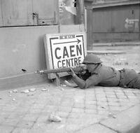 6x4 Gloss Photo ww231 Normandy Calvados Caen 1944 28