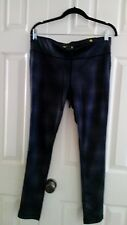 NWT WOMENS XERSION PERFECT FIT GYM WORKOUT FITNESS STRETCH LEGGINGS BLACK GRAY L