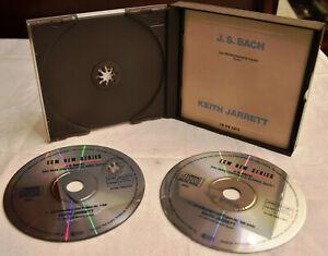 KEITH JARRETT J.S. Bach: Das wohltemperierte Klavier - Buch I 2-CD-SET Sehr GUT!