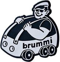 Auto Relief 3D Schild brummi Aufkleber Emblem silbergrau 9 cm HR Art. 4853