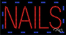 """New """"Nails"""" 32x17 Solid/Animated Led Sign w/Custom Options 21097"""
