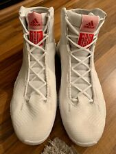 ADIDAS SM Pro Bounce 2018 Team Whi Mens White Red Basketball Shoes US Sz 18