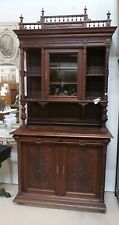 "Antique French Double Buffet Cabinet 1880's Removable Rail H 103""x W 53"" Knights"
