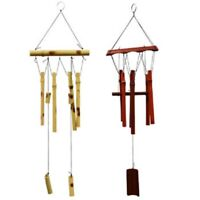 """Garden Collection Natural Bamboo Wind Chimes, 18"""" 2 Color Choices"""