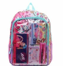 """JoJo Siwa 10-Piece 16"""" Backpack Back to School Essential Set Nickelodeon Purple"""