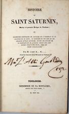 Adrien Salvan : HISTOIRE DE SAINT SATURNIN, 1er EVEQUE DE TOULOUSE -1840. Sernin