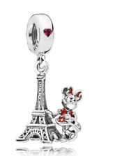 Eiffel Tower Charm Minnie Mouse Genuine Sterling Silver 925 with Gift Bag