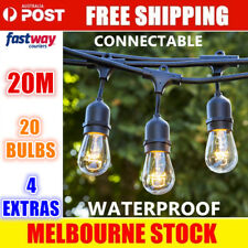 20m String Lights Festoon Wedding Party Fairy Outdoor Marquee Vintage Christmas