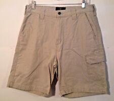 REDHEAD beige 1 pocket cargo Shorts mens size 32 inseam 9.5 *