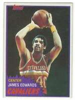 JAMES EDWARDS 1981-82 Topps #MW90 Cavaliers  ID:3262