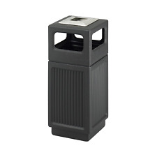 Commercial Trash Can Restaurant outdoor Large Garbage Waste / recycle Bin Black
