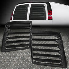 FOR 97-17 CHEVY EXPRESS GMC SAVANA VAN PAIR ABS REAR WINDOW LOUVERS SUN SHADE