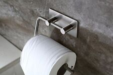 Toilet Paper Holder Roll Towel Hook 3M Self Adhesive Brushed Stainless Steel CA
