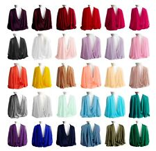 Wide Long Sheer Chiffon Scarf Formal Evening Wrap Cocktail Shawl With Gift Box