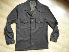 Women's Fashion Design giacca a camicia, marrone, maniche lunghe, Taglia 38