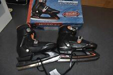 Lake Placid Nitro 7.7 Adjustable Black Ice Skates - Size: Sm 12-1 - New in box