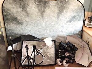 Professional photography Strobe Studio Flash Lighting Kit Complete School photo