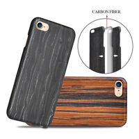 Natural Wood Wooden Bulletproof Hard Back Cover Case For iPhone 5 6 7 Plus