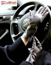 !BRANDNEU! Schwarz Lederhandschuhe mit Reißverschlüssen ! BRANDNEU!