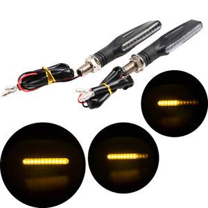 1 Pair Motorcycle LED Turn Signal Light Indicator Amber Universal Fit