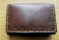 card minimalist slim wallet real leather artisan handmade