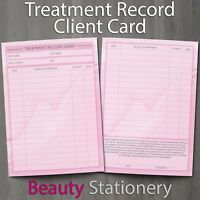 Treatment Client Record Card PREMIUM Consultation A6 Massage Nail Beauty Spa