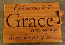 Ephesians 3:5 wooden religious plaque red oak