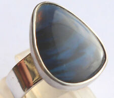 Black Opal 4.87 Karat 925er Silberring Größe 17,2 mm