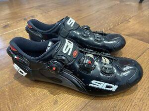 Sidi Wire Carbon Vernice Road Cycling Shoes Black EU 44.5