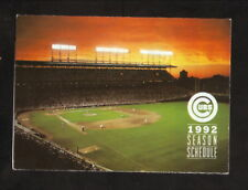 Chicago Cubs--1992 Pocket Schedule--Old Style Beer--Wrigley Field