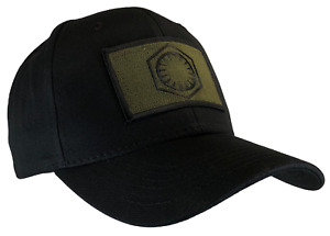 Star Wars First Order Hat Black Ball Cap OD/BLACK Emblem 100% Cotton Structured