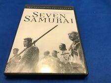 Seven Samurai (Dvd, 1998, Criterion Collection) Akira Kurosawa Complete