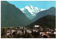 Interlaken Jungfrau Mountain & City View Postcard