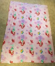 Little Mermaid TWIN Sheet Set Disney Special Edition White Pink Purple Flowers