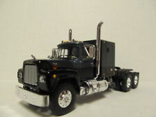 1ST GEAR 1/64 SCALE R MODEL MACK, SLEEPER CAB, CHARCOAL &  BLACK   DCP SCALE