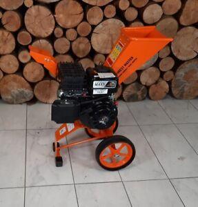Garden Petrol 6hp 3600 rpm Wood Chipper Shredder, Powerful Small Compact