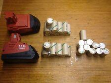 2 kits akku  battery batterie bateria  hilti SFB 121 2Ah (pas les batteries)