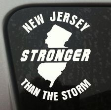 New Jersey - Stronger than The Storm Vinyl Decal Sticker